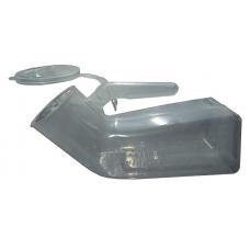 Urine Container, Clear Plastic, Male, cap. 1liter